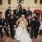 Szalone zdjęcie ślubne ze świadkami