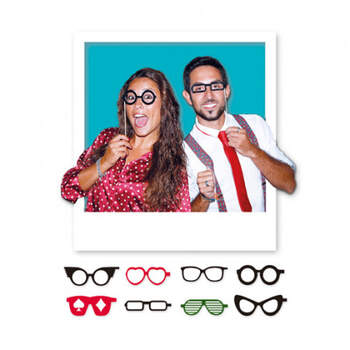Atrezzo para Photocall Gafas 8 Unidades- Compra en The Wedding Shop
