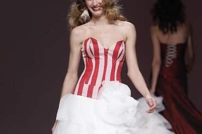 Spring 2013 Wedding Dress Trends: Stripes