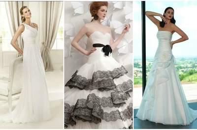Minimal o esagerato,l'importante è che l'abito da sposa sia drappeggiato! Tre esempi di Pronovias Collezione 2013,Atelier Aimèe Montenapoleone Pre-Collezione 2013 e Valentini Sposa.