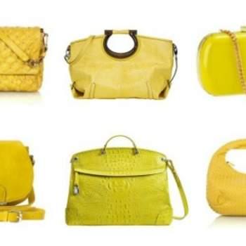 En haut à gauche : Marc Jacobs, Salvatore Ferragamo, H & M, Accessorize, Furla et Bottega Veneta