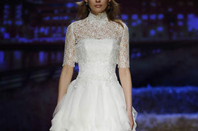 Vestidos de novia con cuello cisne 2016: ideales y llenos de romanticismo