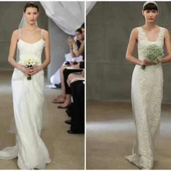 Vestido de novia corte imperio con encaje