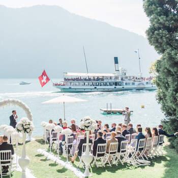 Wunderschöne Herbsthochzeit am Vierwaldstädtersee the wedding dot. Foto: Schweiz Tourismus Rent a Hotel