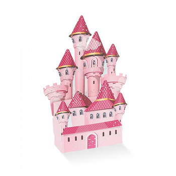 Caja pequeña castillo rosa 6 unidades- Compra en The Wedding Shop