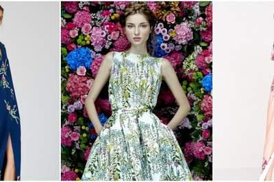 26 вечерних платьев с принтами 2017: ярко и стильно!