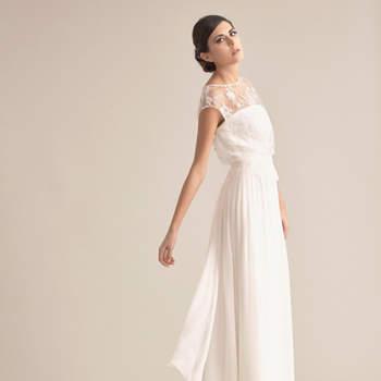Robe de mariée à coupe droite : la sobriété vous va si bien !