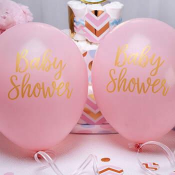 Globos Baby Shower Rosa 8 unidades- Compra en The Wedding Shop