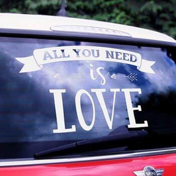 Todo lo que necesitas es amor autoadhesivo - Compra en The Wedding Shop