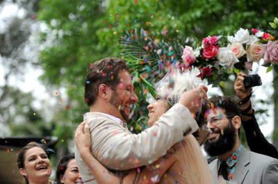 Um casamento lindo em ritmo de carnaval: o