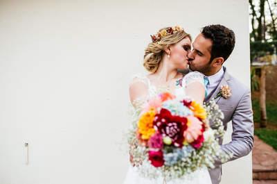 Paty & Fernando: casamento boho super estiloso ao ar livre em São Paulo!
