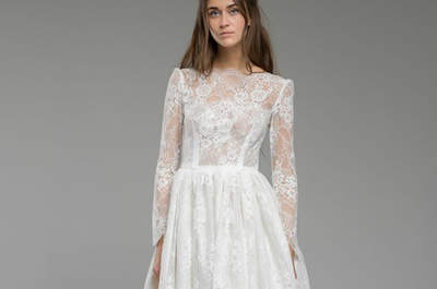 Short wedding dresses for 2017: the top 45 designs- Choose yours!