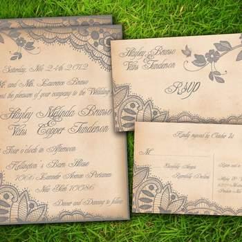 Se você está em busca de inspiração para criar o seu convite de casamento, confira esses modelos encontrados na Etsy de convites de casamento em tons beges, dourados e marrons.