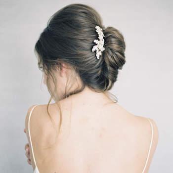 Penteado para noiva com cabelo preso   Credits: Jen Huang Photography