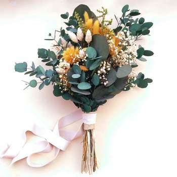 Ramo de flores preservadas. Credits: Margot Blanxart