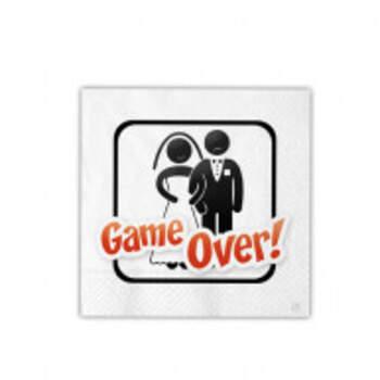 Serviettes Game Over 16 Pièces - The Wedding Shop !