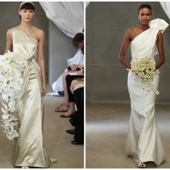 Vestido de novia a un hombro