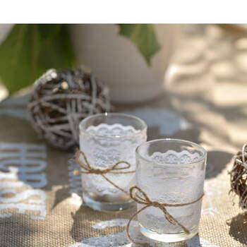 Foto: Sostenedor de vela de vidrio