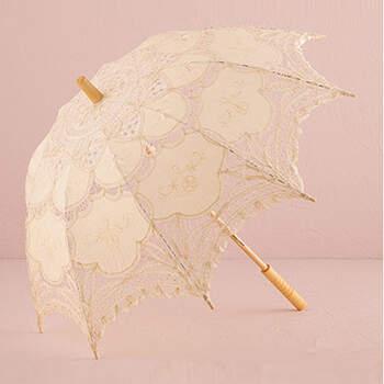 Sombrilla de encaje marfil - The Wedding Shop