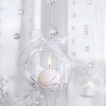 Bola portavelas de vidrio 4 unidades- Compra en The Wedding Shop