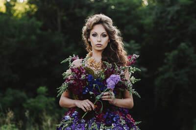 Платье из натуральных цветов: самая фантастическая фотосессия что вы видели!