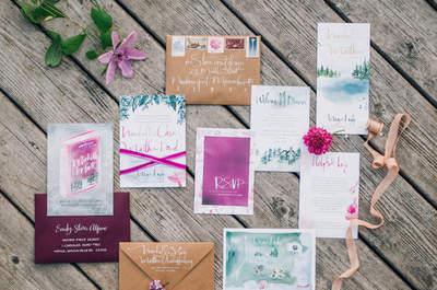 Los 9 mandamientos de las invitaciones de boda perfectas