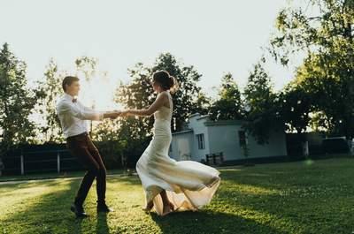 Винтажная геометрия: яркая свадьба Ильи и Дарьи