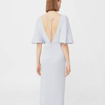 Vestido comprido abertura da Mango (59,99€)