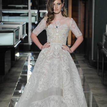 Reem Acra, Bridal Spring 2018, New York, April 2017