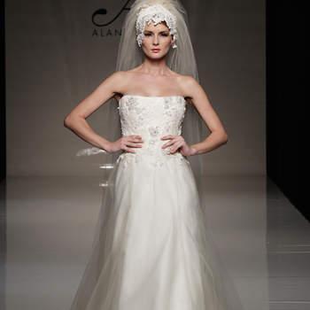 Los vestidos de novia de Alan Hannah son los diseños clásicos y renovados con una pizca de vanguardia para todas las novias románticas que adoran los vestidos sencillos y a la moda. ©Alan Hannah at The White Gallery 2012