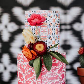 Foto: Amy Lynn Photography - Pastel decorado estilo mexicano