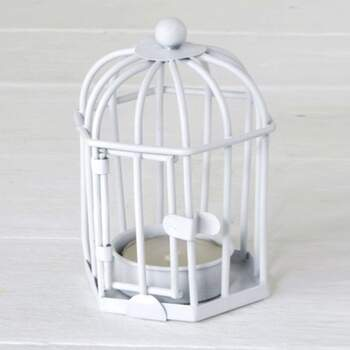 Cage de bougeoir blanc - The Wedding Shop