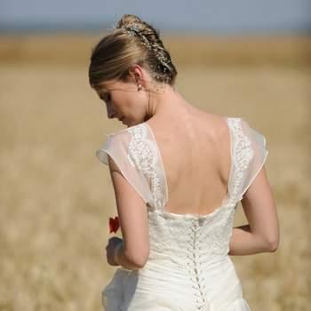 Robe de mariée Catherine Varnier - Modèle Lison, de dos