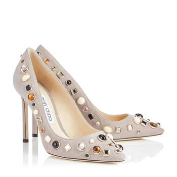 Chaussures de mariée argentées ROMY 100, Jimmy Choo