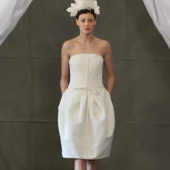 Robe bustier courte Carolina Herrera 2013