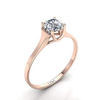 Photo : Diamants et Carats - Modèle : Bague Cindy 0.50 carats en or rose