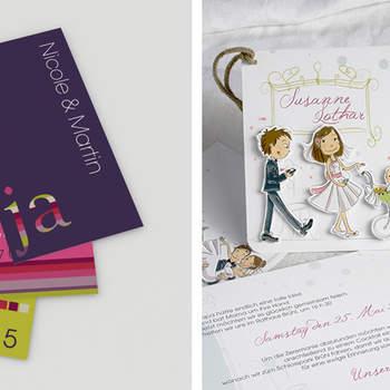 Kreative Hochzeitskarten - Ihre Gäste werden sich freuen. Foto: kreative-hochzeitskarten.com