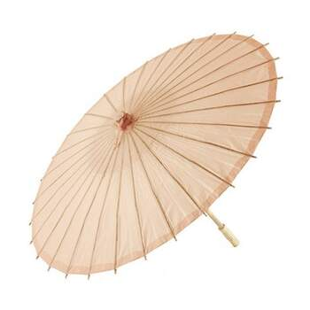 Parasol En Papier Et Bambou Peche -  The Wedding Shop !