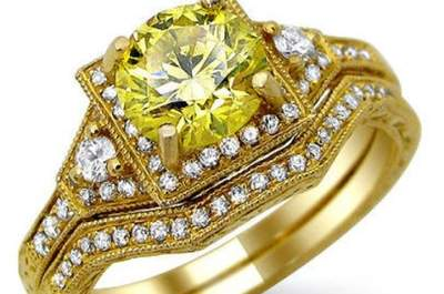 Kanariengelbe Diamanten am Ehering – für eine glamouröse Hochzeit 2013