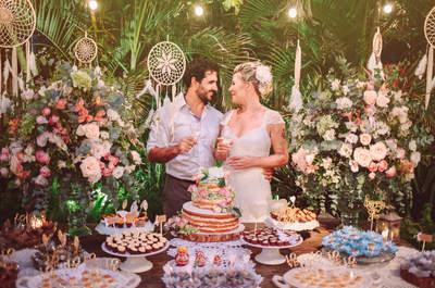 Casamento na praia de Oxana & Franz: celebração boho e boêmia para selar a união deste casal russo-brasileiro