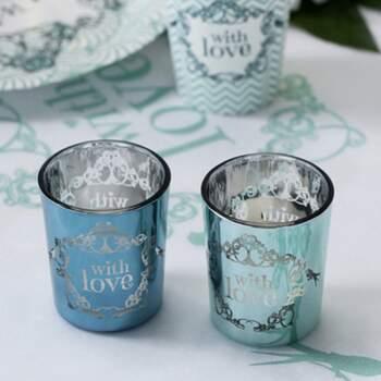 Bougeoir En Verre With Love 2 Pièces - The Wedding Shop