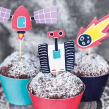 Kit Cupcake Aventures Dans L'espace 12 Pièces - The Wedding Shop !