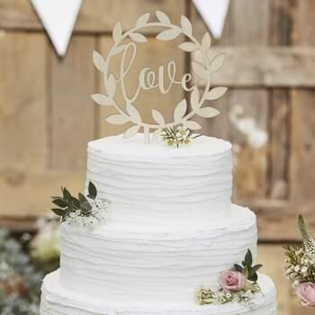 Cake Topper Guirlande En Bois Love - The Wedding Shop !
