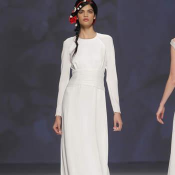 4edfffbe23cd Vestidos de manga larga para novias otoñales