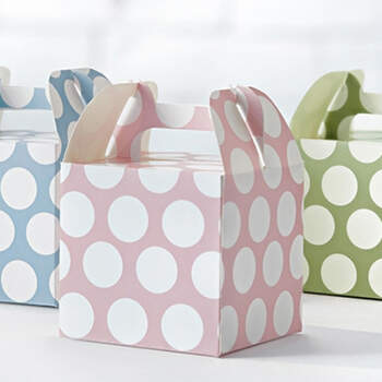 Sweet box pois color 6 pezzi - Compra en The Wedding Shop