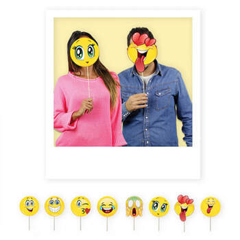 Atrezzo para photocall emoticons 8 unidades - Compra en The Wedding Shop