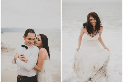 Real Love: Una exquisita sesión Trash the Dress en la playa