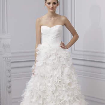 Ravissante robe de la collection Monique Lhuillier 2013. Beaucoup d'effet et d'allure pour cette jupe.