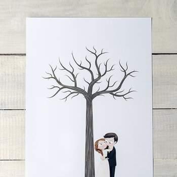 Livre d'or mariage romantique empreinte - The Wedding Shop !
