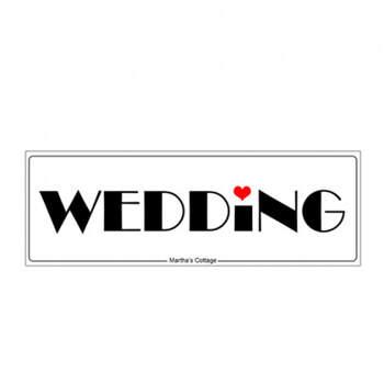 Matricula coche boda amor - Compra en The Wedding Shop